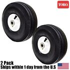 2 Genuine OEM Toro Time Cutter Front Wheel Tire Assembly 105-3471 4.10/3.50-4