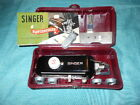 Vintage Singer ButtonHoler Attachment 160743 w/ 5 Templates Instructions Case