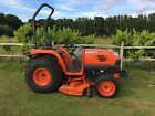 kubota stv36 compact tractor with mid mounted mowing deck