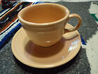Retired Homer Laughlin Fiesaware Apricot Fiesta Cup and Saucer