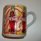 Gibson Yellow Orange Tan 2002 Coca-Cola Coke Mug with Coke Bottles