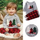 Toddler Kids Baby Boy Girl Clothes Christmas Tree T shirt Pant 2pcs Outfits Set
