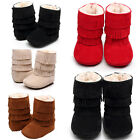 US Baby Infant Child Boys Girls Warm Snow Boots Fur Winter Toddler Crib Shoes