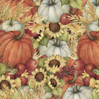 Autumn Pumpkin field by Susan Winget 100% cotton Fabric Remnant 30