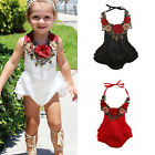 US Stock Toddler Baby Girls Summer Bodysuit Romper Jumpsuit Clothes Outfits NEW