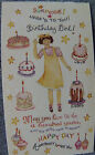 VINTAGE SUSAN BRANCH STICKER MODULE SMALL HAPPY BIRTHDAY GIRL CAKES MORE