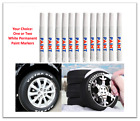 White Permanent Tire Paint Marker Pen Car Tread Rubber
