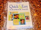 Memory Makers NEW Quick  Easy Scrapbook Pages INSTRUCTION BOOK IDEAS