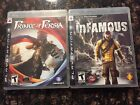 play station 3 bundled games: inFamous & Prince of Persia w/ bonus content disc
