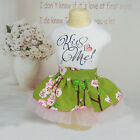 Blossom Pet Dog Tutu Skirt Floral Puppy Cat Lace Dress Clothes for Chihuahua