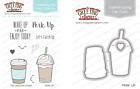 PERK UP Stamps Dies Set The Greeting Farm Stamping Craft Latte Frappi Coffee