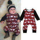 Newborn Kid Baby Boy Girl Deer Clothes Jumpsuit Romper Bodysuit Sunsuit Outfit A