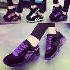 New Fashion Womens Casual Walking Sneakers Lace up Leather Running Sports Shoes