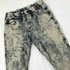 Vintage 90s Acid Wash Jeans Women XL L Destroyed Mom Distressed Denim Pants