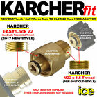 NEW 2017 KARCHER HDS 6/12 7/10 EASY!FORCE EASY!LOCK TO OLD M22 MALE HOSE ADAPTER