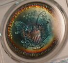 1990 American Silver Eagle Dollar ASE PCGS MS66 Marvelous Rainbow Color Toned Ge