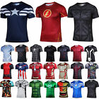 Men Compression Marvel Superhero Costume Sports Jersey Cycling Shirt Casual Tops