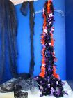 Lot of HALLOWEEN Purple  Orange GARLAND Spider Web LACE Misc Fabric