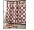 Hearts  Stars Shower Curtain Polyester 70 W x 72 L Multi Color Valentines Day