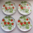 4 Fitz & Floyd Wild Strawberry Salad Plates 7-1/2