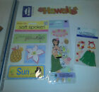 Lot of Hawaii Stickers Grass Skirt Paradise SunFlip Flops Jolees Scrapbook