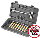 Hammer and Punch Set Brass Steel Plastic Punches w Case Gunsmithing Tools NOTAX