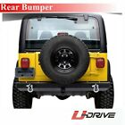Black Textured Rear Bumper Fit 1987 2006 Jeep Wrangler TJ YJ New