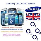 Factory unlock code for O2 UK Samsung Galaxy S8 S8+ S7 Edge S7+ Note 4