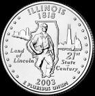 2003 D Illinois State Quarter New US Mint Brilliant Uncirculated
