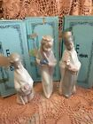 Lladro 4673 4674 4675 Kings Melchor Gaspar Baltasar Mint! Original Blue Boxes!