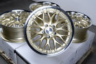 17 Gold Wheels Rims 5x112 E320 E550 S350 S430 Volkswagen Phaeton Passat Rabbit