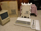 Apple Macintosh Plus computer working with extras incl box
