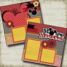 MOUSE MEMORIES 2 Premade Scrapbook Pages EZ Layout 2192