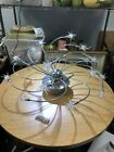 Mid Century Chrome and Glass Ceiling Light Fixture