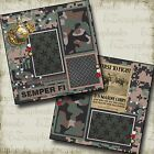 MARINE CORPS 2 Premade Scrapbook Pages EZ Layout 159