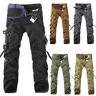 Men Army Camo Cargo Combat Military Trousers Cotton Camouflage Casual Long Pants