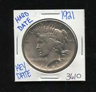 1921 SILVER PEACE DOLLAR COIN 3610 FREE SHIPPING RARE KEY DATE HARD DATE