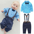 US Newborn Baby Boy Girl Long Sleeve Top T shirt+Pants 2pcs Outfits Clothes Set
