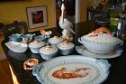 Fitz & Floyd Seaboard Collection 2 platters, 4 bowls w/lids, tureen, Pelican etc