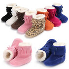 US Stock Baby Tassel Soft Sole Leopard Shoes Infant Boy Girl Moccasin Boots