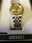 Ladies SEIKO Two Toned Stainless Steel Sports 50  Wrist Watch  7N82-0349 A4 5BAR