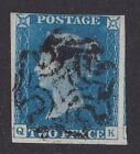 GREAT BRITAIN 1840 QV 2d blue plate 1 cat 900