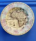 4 Fitz & Floyd Set Of OLD WORLD MAPS Salad Plates