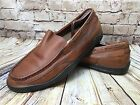 Propet Marine Mens Size 14 MD Moc Toe Boat Brown Leather Loafers