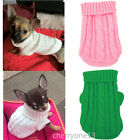 XXXS XXS XS Knitted Dog Sweater Cat Puppy Clothes Jumper for Chihuahua Teacup