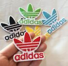 Red Adidas Logo Embroidered Patch Iron On 2 Traditional Adidas Symbol