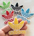 Yellow Adidas Logo Embroidered Patch Iron On 2 Traditional Adidas Symbol