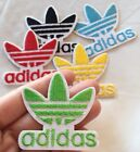 Green Adidas Logo Embroidered Patch Iron On 2 Traditional Adidas Symbol