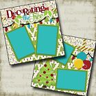 DECORATING The TREE 2 Premade Scrapbook Pages EZ Layout 2168