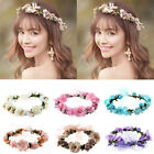 Multi Color Boho Flower Floral Women Hairband Headband Crown Party Bride Wedding